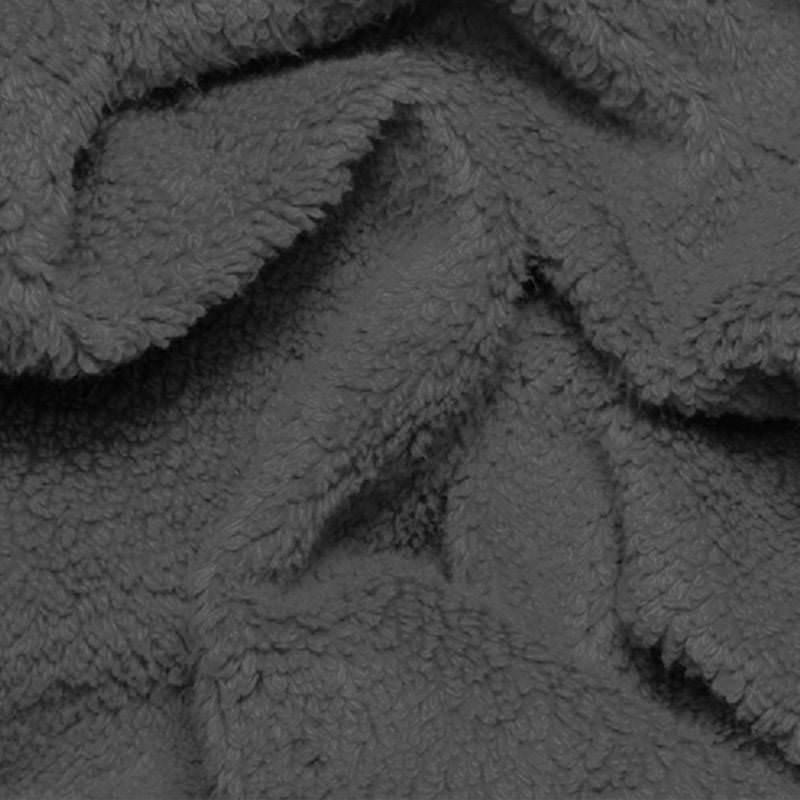 Teddy-stof-donker grijs